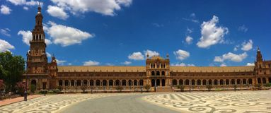 The Plaza de España - Spain Square, Seville, Spain royalty free stock photos