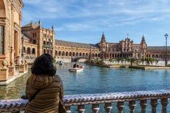 Plaza de España views Stock Images