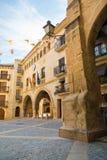 Plaza de España arcades in Calaceite Royalty Free Stock Image