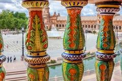 Plaza de Espa?a Plaza de Espana, Sevilla, Andaluc?a, Espa?a imagen de archivo