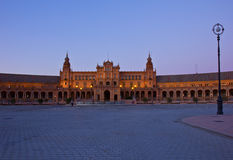 Plaza de Espa�a at night, Sevilla. Plaza de Espana at night, Sevilla, Spain Stock Photos