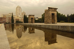 Plaza de España from the Temple of Debod Royalty Free Stock Image
