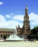Plaza de España Fotografia Stock Libera da Diritti