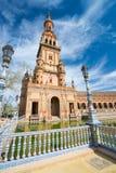 Plaza de EspaA±aa塞维利亚,安达卢西亚,西班牙 图库摄影