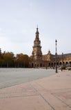 Plaza de EspaA±aa大厦美好的建筑学与beautif的 库存图片