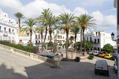Plaza de Espana fountain, Vejer de la Frontera, Spain royalty free stock images