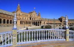 Plaza de Espana ή πλατεία της Ισπανίας στη Σεβίλη, Ανδαλουσία Στοκ Εικόνες