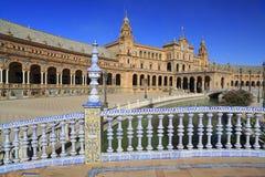 Plaza de Espana ή πλατεία της Ισπανίας στη Σεβίλη, Ανδαλουσία, Ισπανία Στοκ εικόνες με δικαίωμα ελεύθερης χρήσης