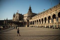 Plaza de Espana, Δημαρχείο στη Σεβίλη, Ισπανία, Ευρώπη Στοκ Εικόνα