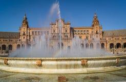 Plaza de Espana Ισπανία πλατεία στη Σεβίλλη Στοκ Φωτογραφία