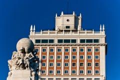 Plaza de Espana κοντά σε Gran μέσω στη Μαδρίτη Στοκ φωτογραφία με δικαίωμα ελεύθερης χρήσης