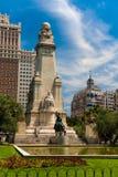 Plaza de Espana κοντά σε Gran μέσω στη Μαδρίτη Στοκ Εικόνες