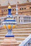 Plaza de Espana μπλε λεπτομέρεια κιγκλιδωμάτων στη Σεβίλλη, Ανδαλουσία, SP Στοκ εικόνες με δικαίωμα ελεύθερης χρήσης