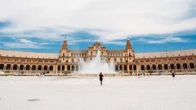 Plaza de Espana - ορόσημο στη Σεβίλη, Ανδαλουσία, Ισπανία Renaiss Στοκ φωτογραφίες με δικαίωμα ελεύθερης χρήσης