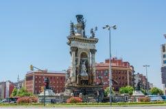Plaza de Espana πηγή Βαρκελώνη Καταλωνία Ισπανία Στοκ εικόνα με δικαίωμα ελεύθερης χρήσης