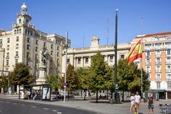 Plaza de Espana πλατεία σε Σαραγόσα, Ισπανία Στοκ φωτογραφίες με δικαίωμα ελεύθερης χρήσης