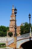 Plaza de Espana, Σεβίλη, έκταση. Στοκ Φωτογραφία