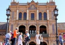 Plaza de Espana, Σεβίλη, Ανδαλουσία, Ισπανία Στοκ φωτογραφίες με δικαίωμα ελεύθερης χρήσης