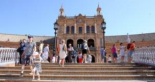Plaza de Espana, Σεβίλη, Ανδαλουσία, Ισπανία Στοκ φωτογραφία με δικαίωμα ελεύθερης χρήσης