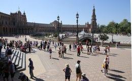 Plaza de Espana, Σεβίλη, Ανδαλουσία, Ισπανία Στοκ εικόνες με δικαίωμα ελεύθερης χρήσης