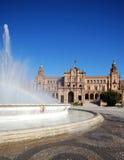 Plaza de Espana, Σεβίλη, Ισπανία. Στοκ Εικόνες