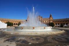 Plaza de Espana, Σεβίλη, Ισπανία. Στοκ Εικόνα