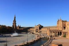 Plaza de Espana, Σεβίλλη Στοκ Φωτογραφίες