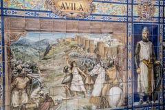 Plaza de Espana, Σεβίλλη, Ισπανία - διάσημη παλαιά διακοσμητική κεραμική Στοκ εικόνες με δικαίωμα ελεύθερης χρήσης