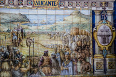 Plaza de Espana, Σεβίλλη, Ισπανία - διάσημη παλαιά διακοσμητική κεραμική Στοκ Εικόνα