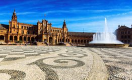 Plaza de Espana Σεβίλη Ισπανία Στοκ Φωτογραφία