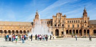 Plaza de Espana Σεβίλλη Ισπανία Στοκ Φωτογραφίες
