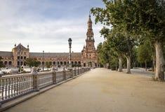 Plaza de Espana στην πόλη της Σεβίλης Στοκ Εικόνες