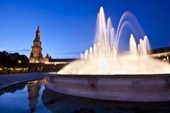 Plaza de Espana στη Σεβίλη, Ισπανία Στοκ Εικόνες