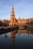 Plaza de Espana στη Σεβίλη, Ισπανία. Στοκ Εικόνα