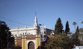 Plaza de Espana στη Σεβίλη χτίστηκε για το 1929 Exposicion ibero-αμερικανικό Στοκ εικόνα με δικαίωμα ελεύθερης χρήσης
