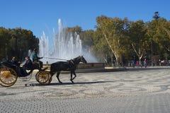 Plaza de Espana στη Σεβίλη χτίστηκε για το 1929 Exposicion ibero-αμερικανικό Στοκ φωτογραφία με δικαίωμα ελεύθερης χρήσης