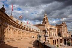 Plaza de Espana στη Σεβίλη Στοκ Εικόνες