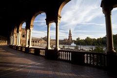 Plaza de Espana στη Σεβίλλη Στοκ φωτογραφία με δικαίωμα ελεύθερης χρήσης