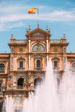 Plaza de Espana στη Σεβίλη, Ανδαλουσία, Ισπανία Αναγέννηση Reviva Στοκ Εικόνα