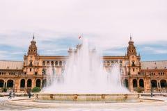 Plaza de Espana στη Σεβίλη, Ανδαλουσία, Ισπανία Αναγέννηση Reviva Στοκ Φωτογραφίες