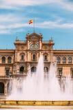 Plaza de Espana στη Σεβίλη, Ανδαλουσία, Ισπανία Αναγέννηση Reviva Στοκ Φωτογραφία