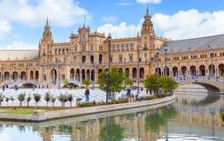 Plaza de Espana στη Σεβίλη, Ανδαλουσία, Ισπανία, Ευρώπη Στοκ Εικόνα