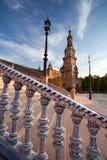 Plaza de Espana στη Σεβίλλη, Ισπανία Στοκ Εικόνα