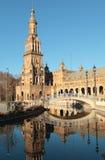 Plaza de Espana στη Σεβίλη, Ισπανία Στοκ φωτογραφίες με δικαίωμα ελεύθερης χρήσης