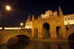 Plaza de Espana τη νύχτα Στοκ εικόνες με δικαίωμα ελεύθερης χρήσης
