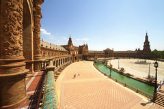 Plaza de Espana. In Seville, Andalucia, Spain Stock Image