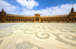 Plaza de Espana. In Seville, Andalucia, Spain Stock Images