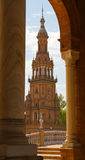 Plaza de Espana. In Seville, Andalucia, Spain Stock Photos