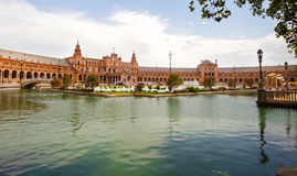 Plaza de Espana. In Seville, Andalucia, Spain Stock Photography