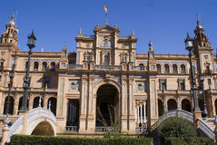 Plaza de Espana. Exhibition place and building in Sevilla, Southern Spain Stock Photography
